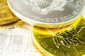 Goldmünzen und Silbermünzen