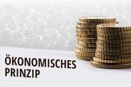 Konzept Ökonomisches Prinzip / Finanzen im digitalen Zeitalter